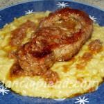 risotto alla milanese con ossibuchi