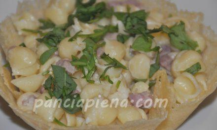 Orecchiette pancetta, rucola e stracchino